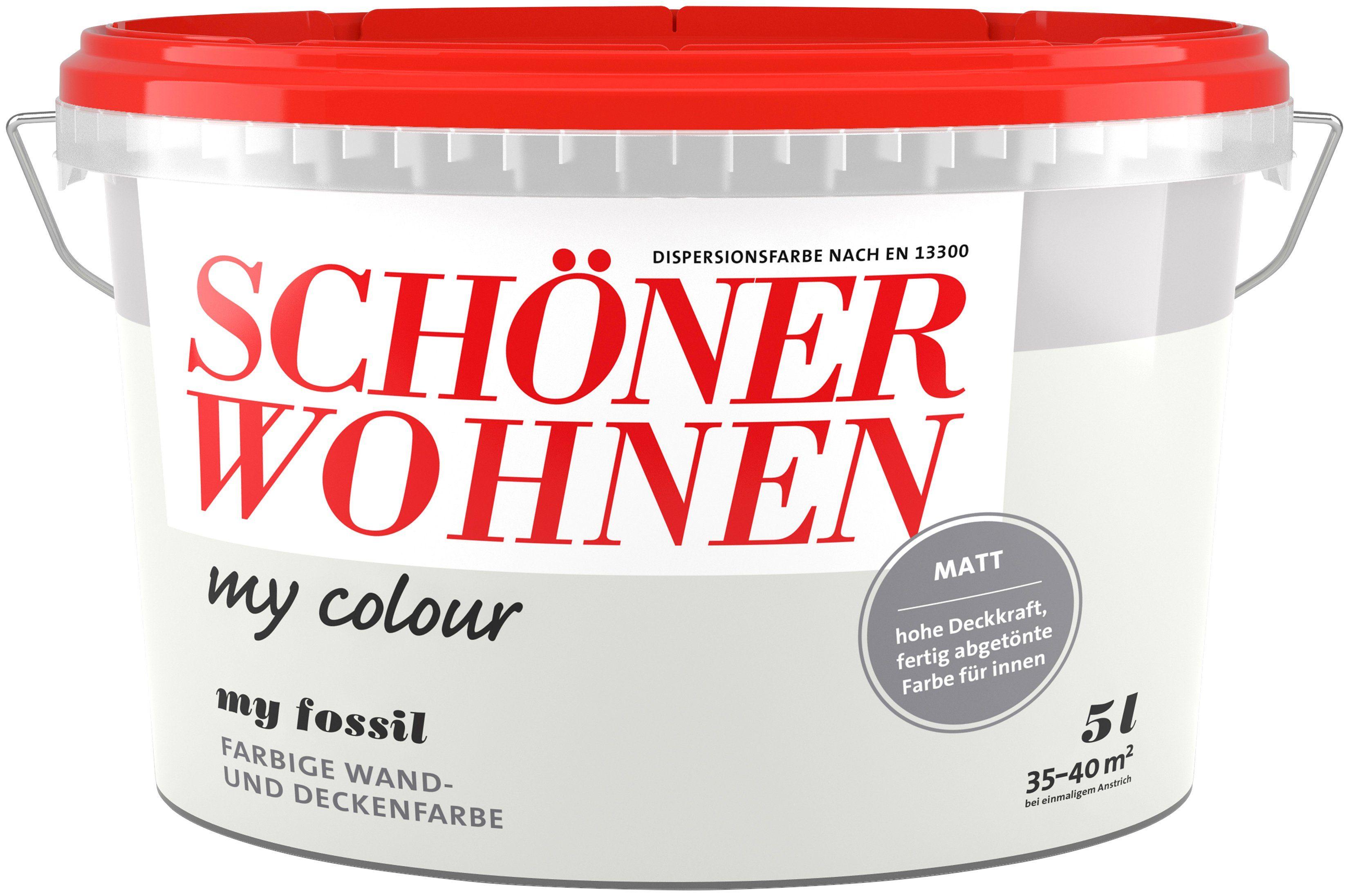 SCHÖNER WOHNEN FARBE Wand- und Deckenfarbe »my colour - my fossil«, matt, 5 l