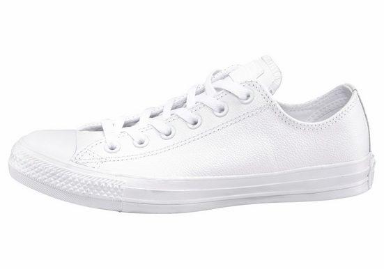 Converse Mandrin Taylor Basique En Cuir Ox Monocrome Sneaker