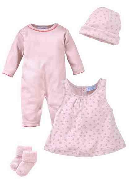 Klitzeklein Neugeborenen-Geschenkset (4-tlg) mit Herzchendruck