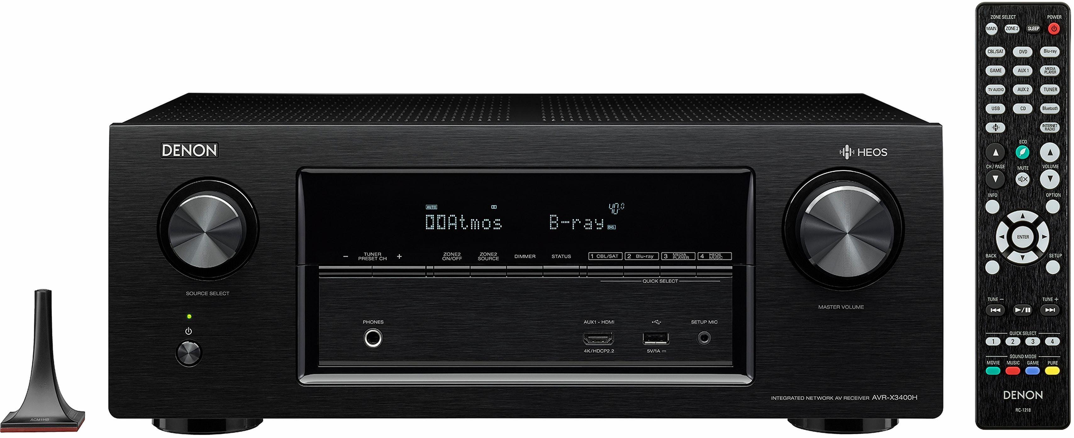 Denon AVRX3400H 7.2-Kanal AV-Receiver (Hi-Res, Spotify Connect, Deezer, Airplay, WLAN, Bluetooth)