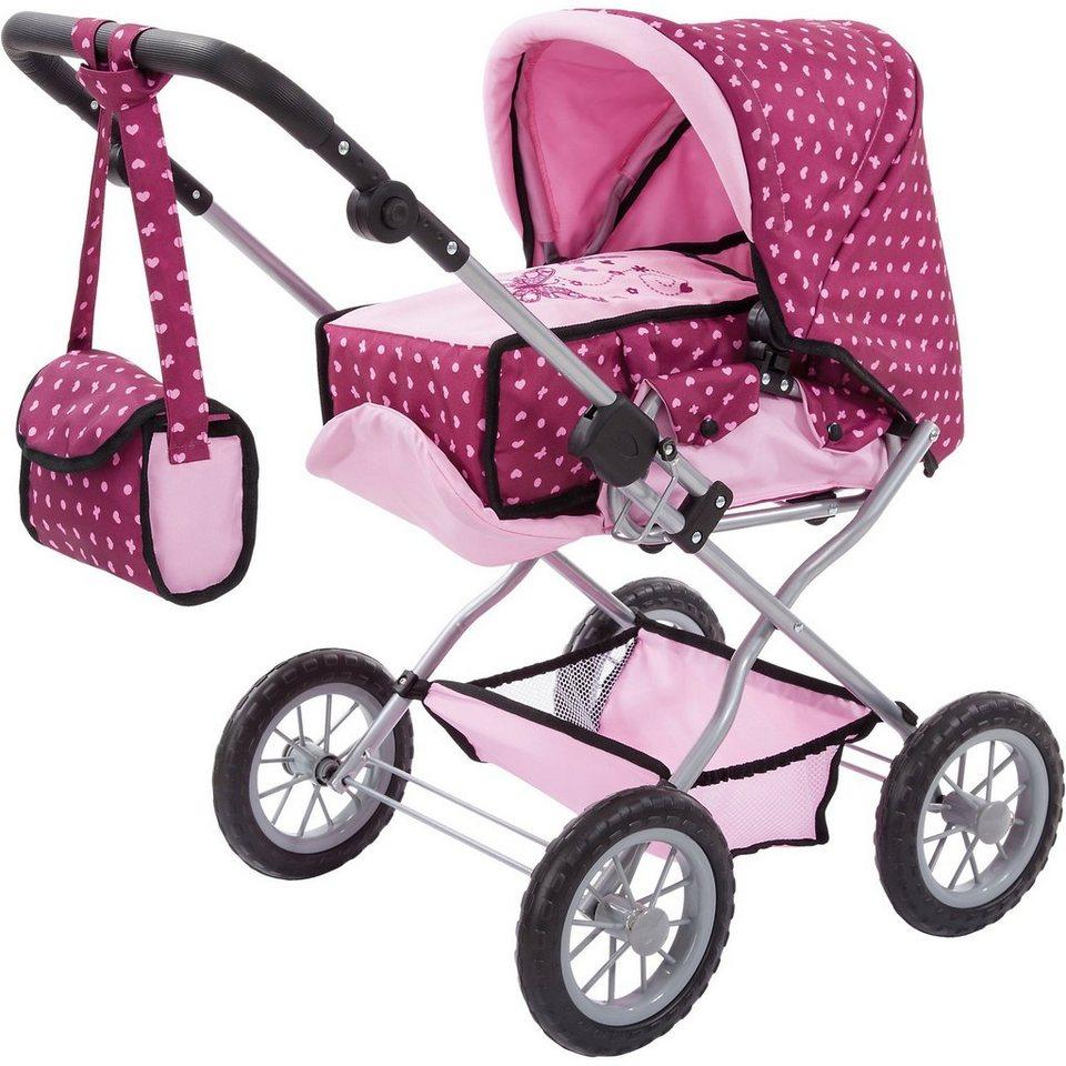 bayer kombi puppenwagen grande pink gepunktet otto. Black Bedroom Furniture Sets. Home Design Ideas