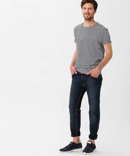 Brax Style Troy Casual Shirt With A Sporty Stripe Optics