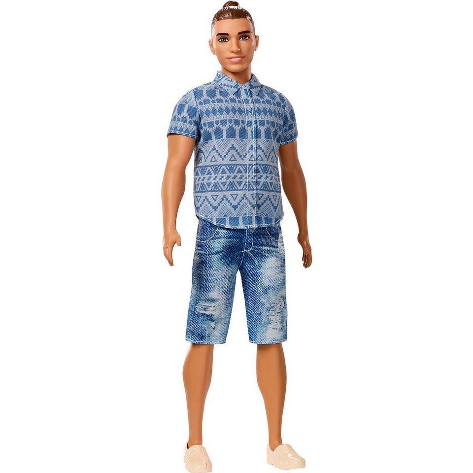 mattel ken fashionistas puppe in verwaschenen jeansshorts online kaufen otto. Black Bedroom Furniture Sets. Home Design Ideas