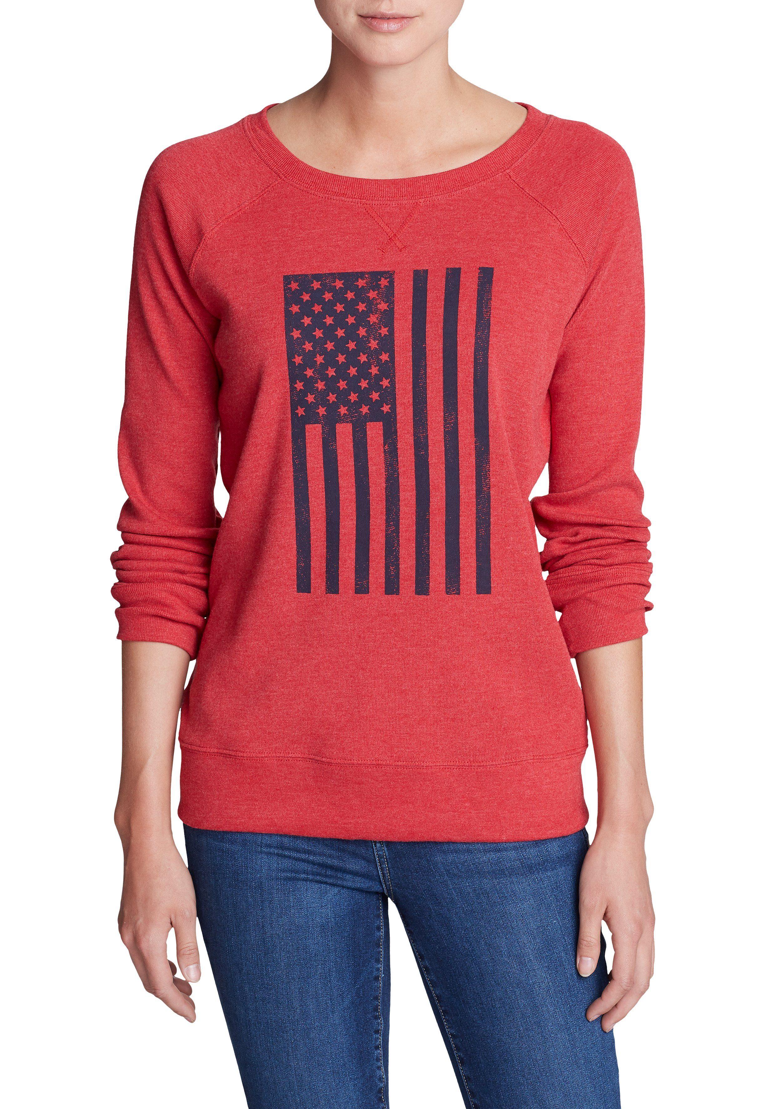 Eddie Bauer Sweatshirt Legend Wash Americana-Flagge