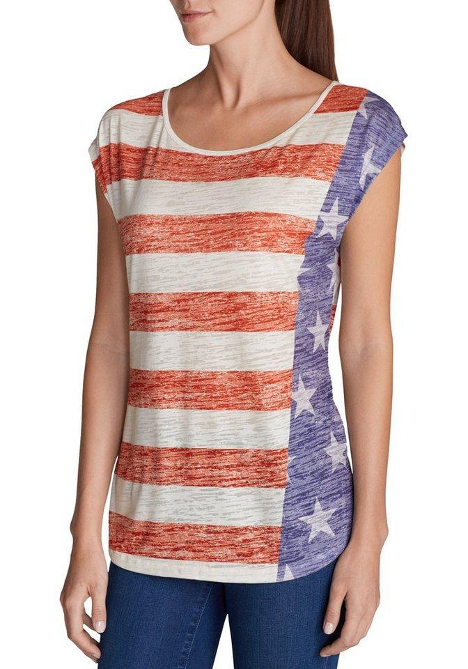 Damen Eddie Bauer T-Shirt T-Shirt bedruckt Flagge  | 04057682105772