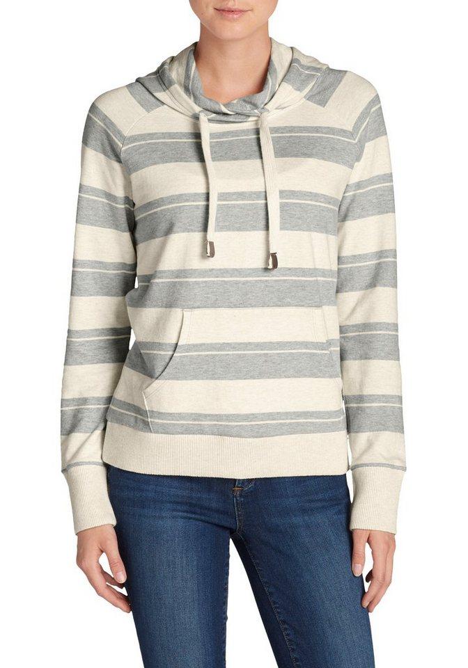 Damen Eddie Bauer  Sweatshirt Streifensweatshirt mit Kapuze  | 04057682086095