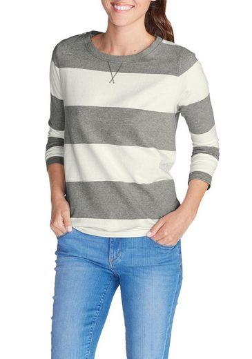 Eddie Bauer Sweatshirt mit Rugby-Streifen