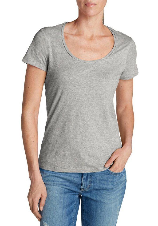 Damen Eddie Bauer  T-Shirt Essential Slub Shirt – Kurzarm mit Rundhalsausschnitt grau | 04057682182476