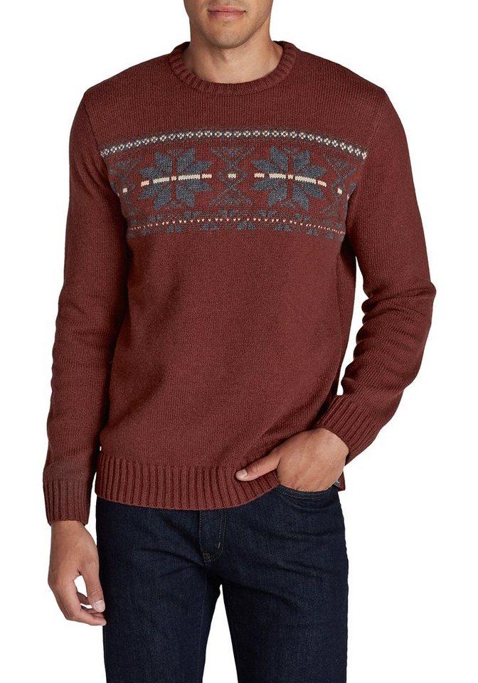 Herren Eddie Bauer Strickpullover Pullover mit Muster braun | 04057682039466