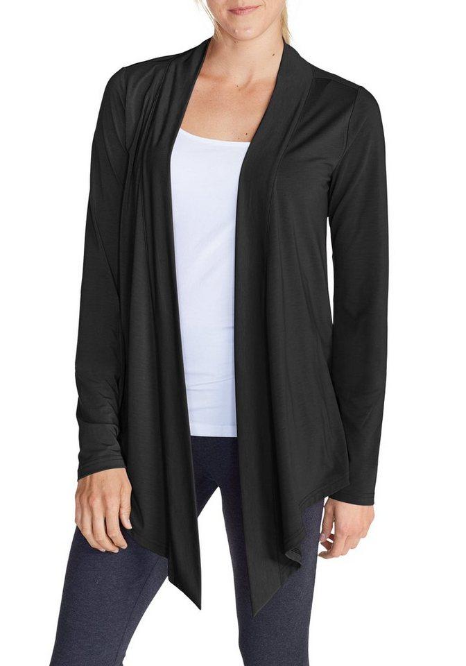 Damen Eddie Bauer  Sweatshirt Daisy 2.0 Jacke schwarz | 04057682072913