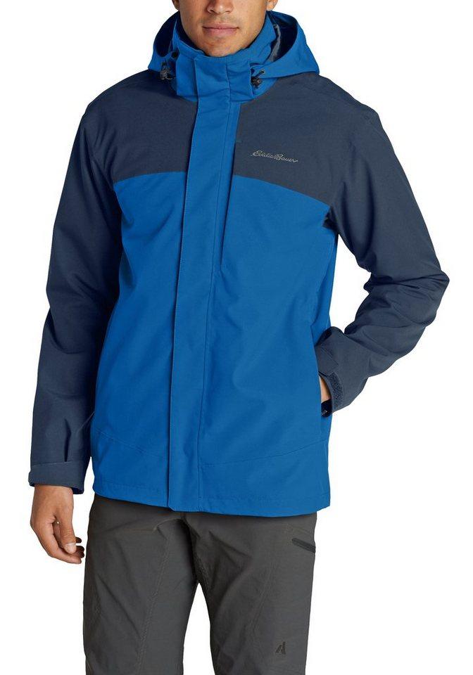 Herren Eddie Bauer Outdoorjacke All-Mountain 2-in-1-Jacke blau | 04057682006338