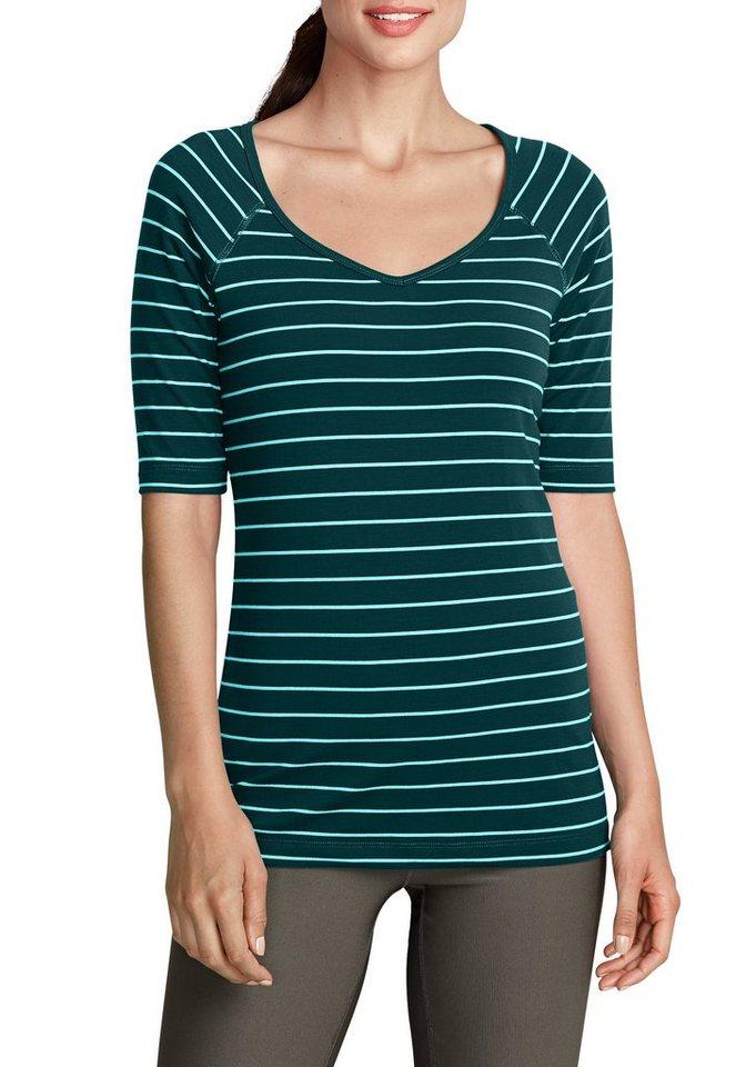 Damen Eddie Bauer  T-Shirt Travex® Funktionsshirt grün | 04045785272996