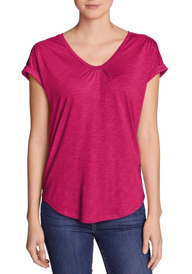 Damen Eddie Bauer  T-Shirt Gate Check T-Shirt rot | 04057682094199