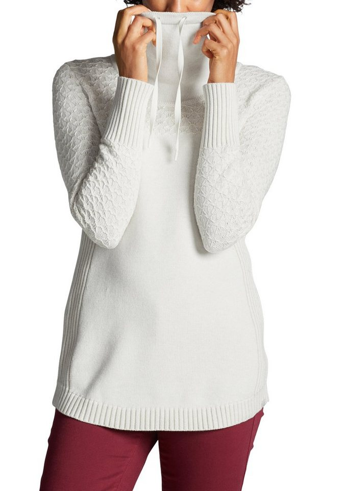 Damen Eddie Bauer  Strickpullover Pullover mit Fangmaschen  | 04045785322172