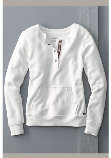 Eddie Bauer Sweatshirt mit Y-Ausschnitt