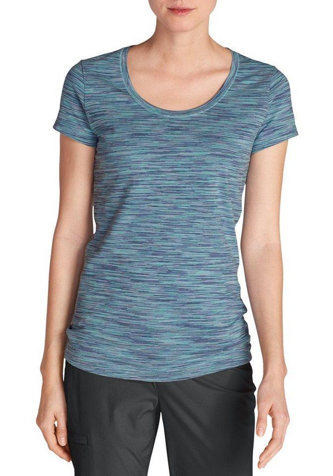 Damen Eddie Bauer  T-Shirt Lookout T-Shirt – Space Dye blau | 04057682101590