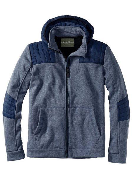 Herren Eddie Bauer Sweatshirt Sweatjacke mit Fleece gefüttert blau   04056542210038