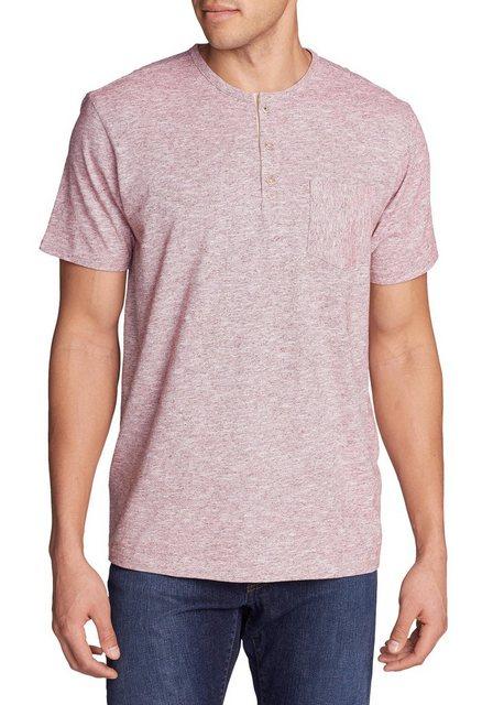 eddie bauer -  T-Shirt Ferox Henley - Kurzarm - Mikrostreifen