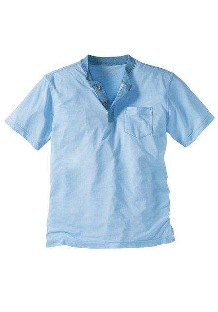 Herren Eddie Bauer T-Shirt Kurzarmhenley mit Brusttasche blau   04045785371477