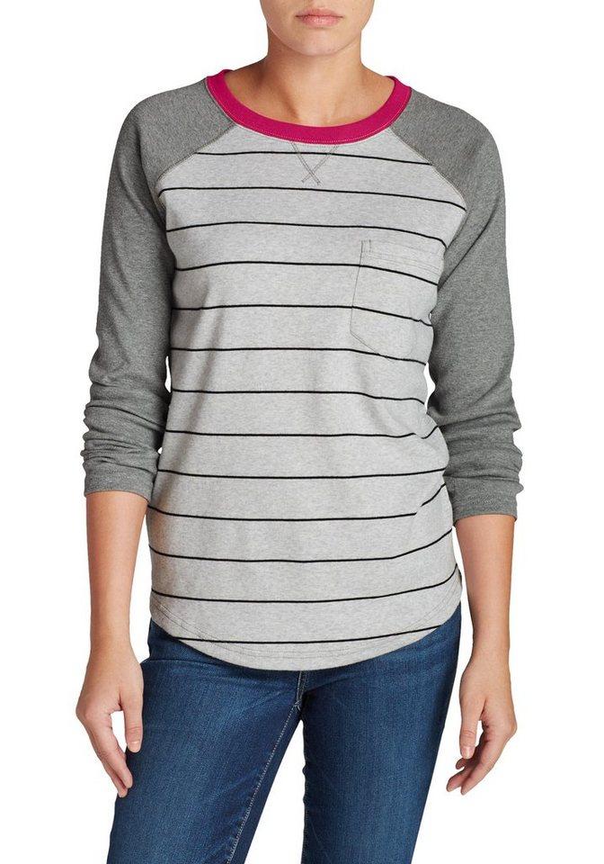 Damen Eddie Bauer  Sweatshirt Sweatshirt mit Brusttasche grau | 04057682058092