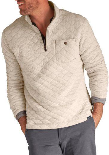 Eddie Bauer Sweatshirt mit Rautensteppung