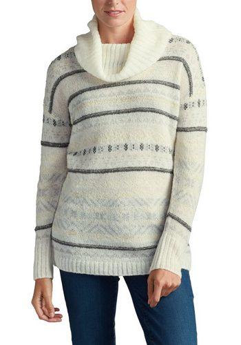 Damen Eddie Bauer Longpullover Pullover mit Fair-Isle-Muster  | 04045785349452