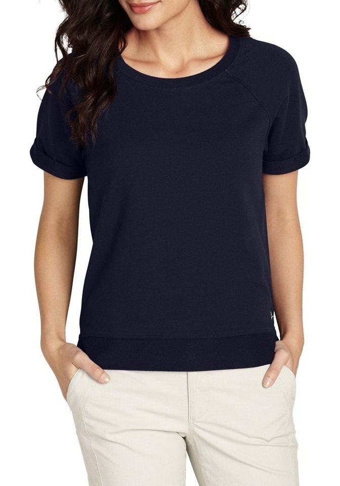 Damen Eddie Bauer  Sweatshirt French-Terry-Sweatshirt blau | 04045785288157