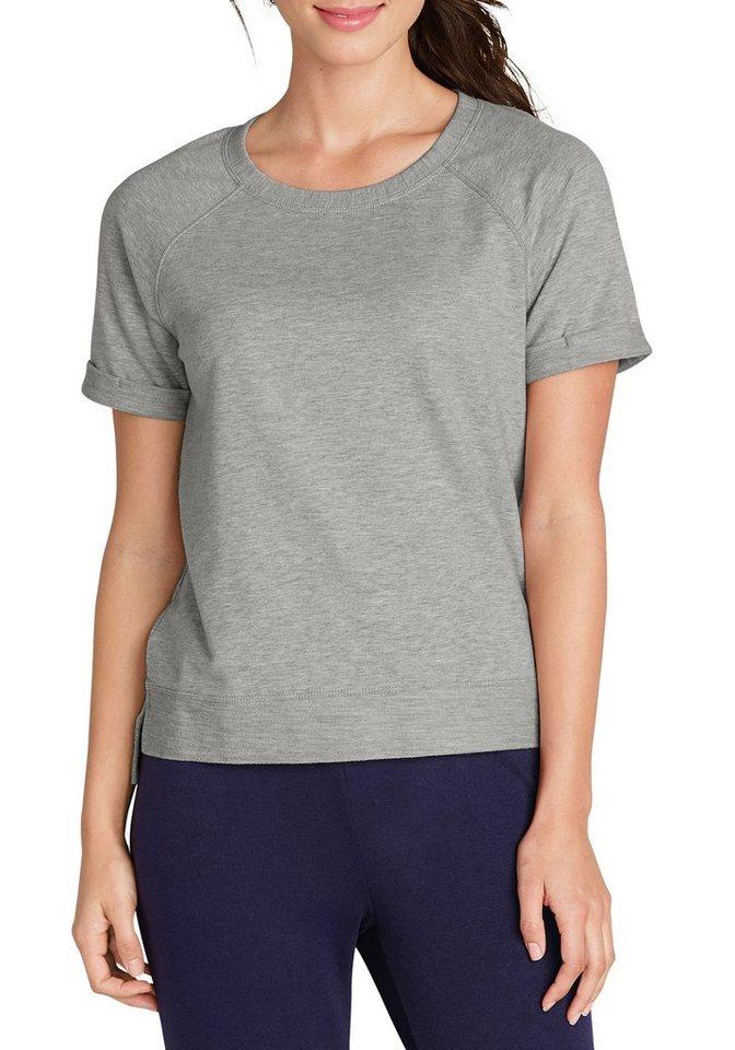 Damen Eddie Bauer Sweatshirt French-Terry-Sweatshirt grau | 04045785288126