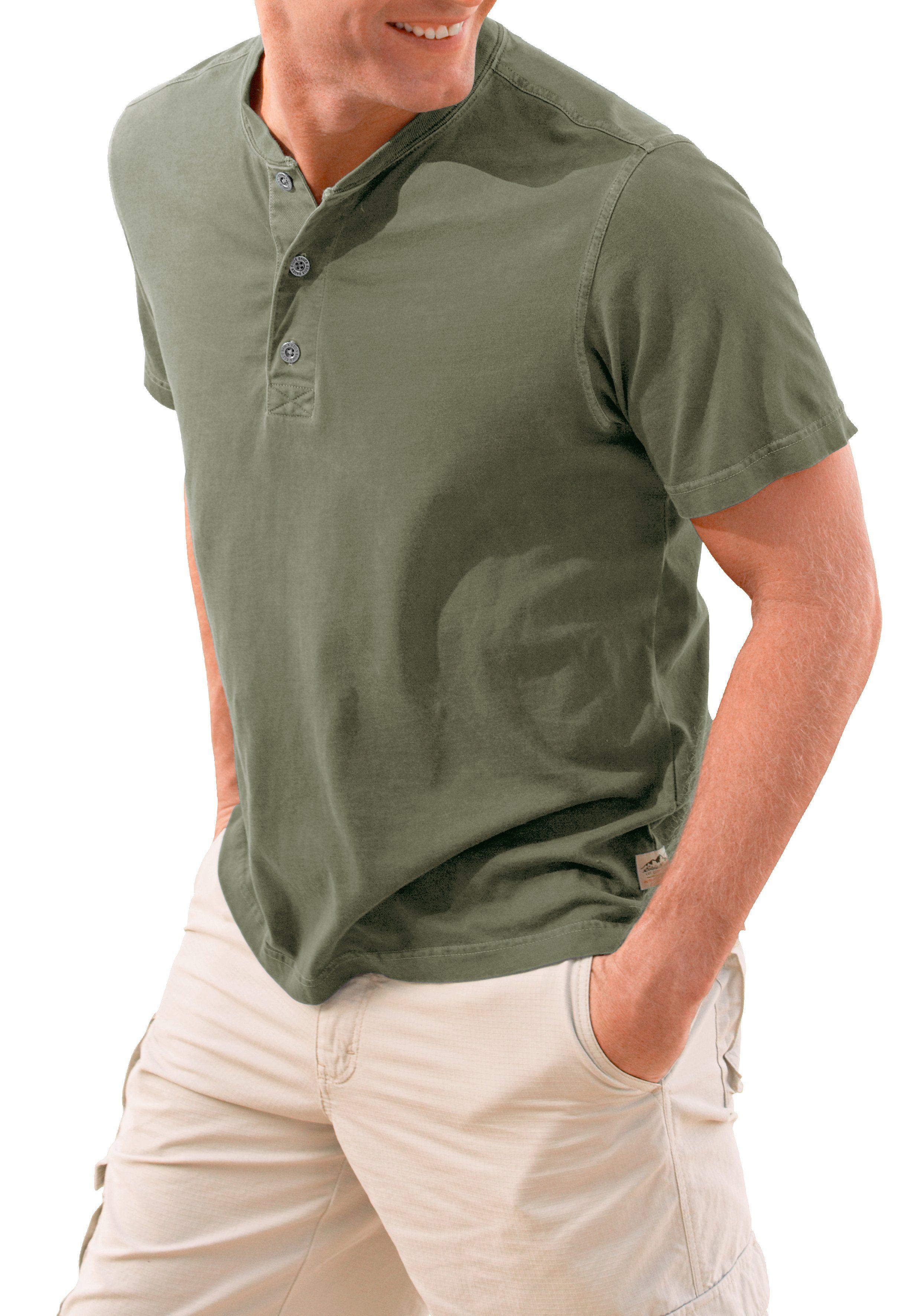 Eddie Bauer T-Shirt mit Knopfleiste