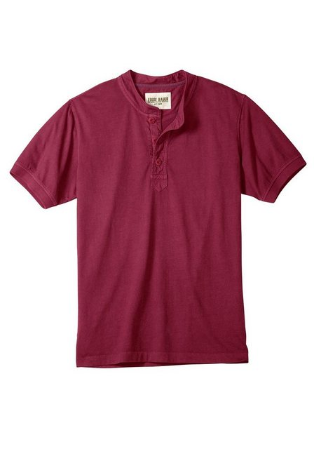 Herren Eddie Bauer T-Shirt Henleyshirt in Used-Optik rot   04045785199651