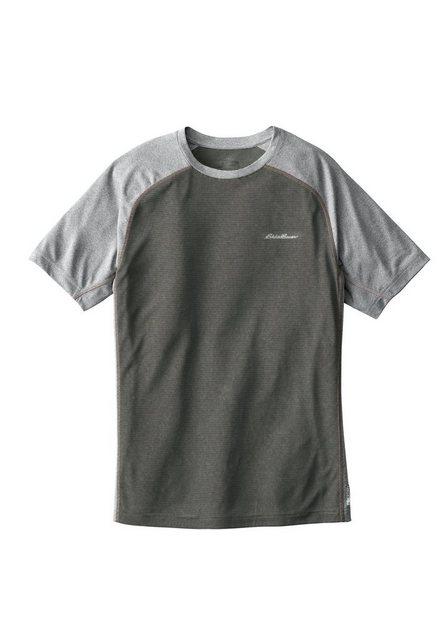 Herren Eddie Bauer T-Shirt Resolution Shirt gestreift grau   04057682006758