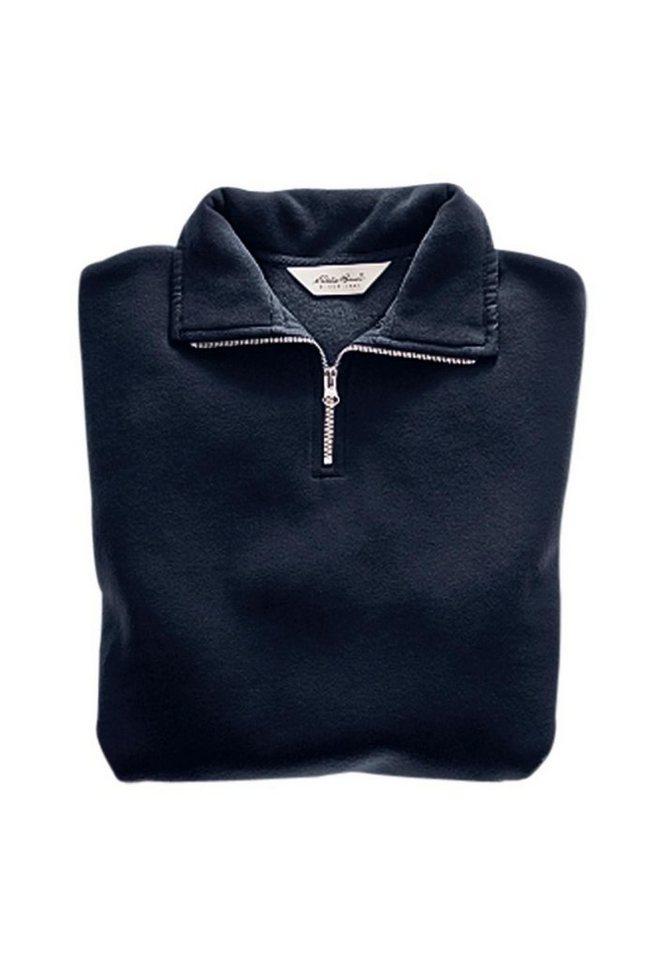 Damen Eddie Bauer Sweatshirt Sweatshirt mit Reißverschluss blau | 08698304281779