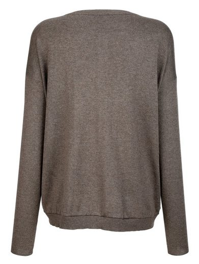 Alba Moda Sweater In High-quality Cotton-silk-cashmere Blend