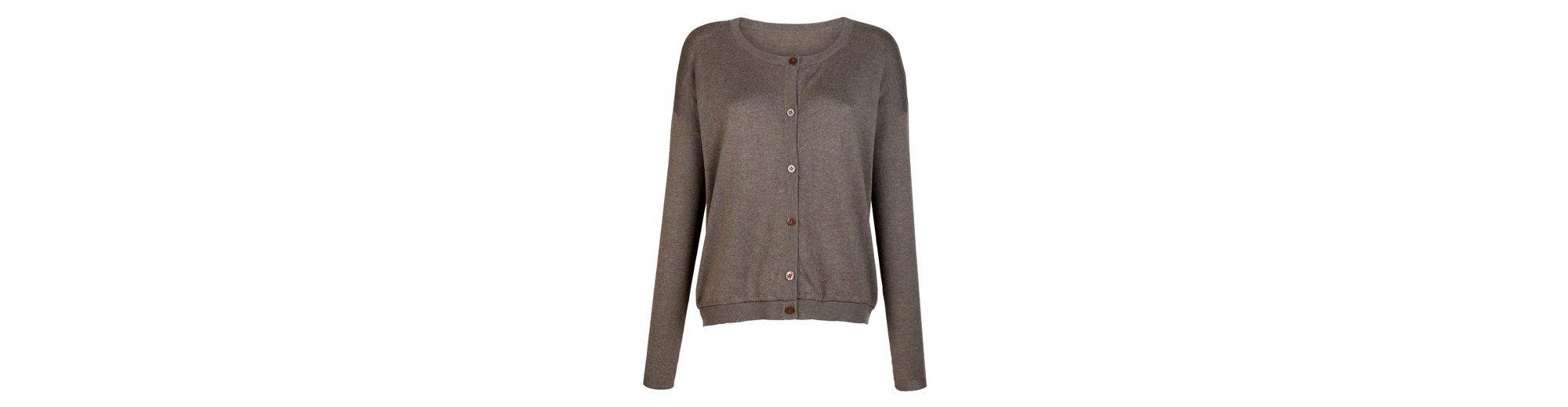 Komfortabel Günstiger Preis Viele Arten Von Online Alba Moda Strickjacke in hochwertiger Baumwoll-Seiden-Kaschmirmischung Bilder dwKspsvQSD