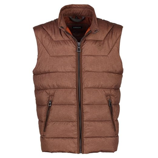 Lerros Quilted Vest With All-over Print
