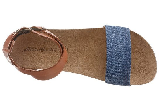 Eddie Bauer Leder-Sandale mit Textileinsatz