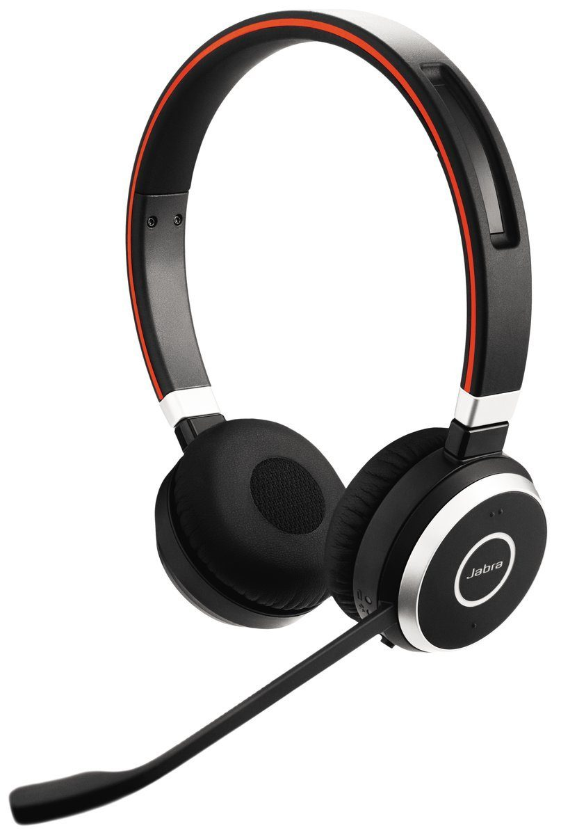 Jabra Headset »Evolve 65 binaural USB NC mit Ladestation«