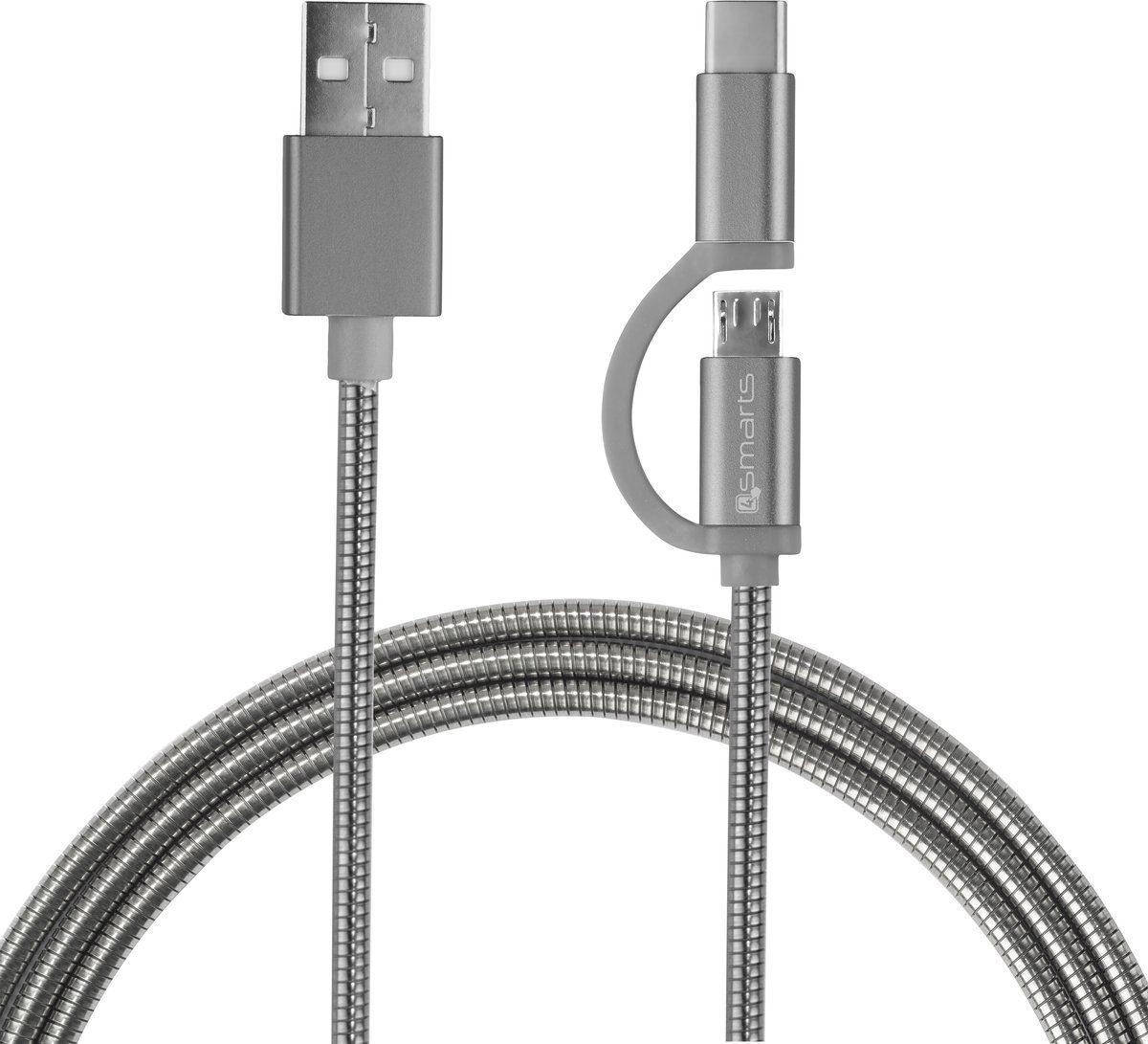 4Smarts Lader »Micro-USB & USB-C Kabel ComboCord 1m«