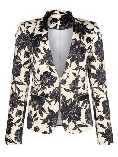 Alba Moda Blazer Shorter Zipper In The Front