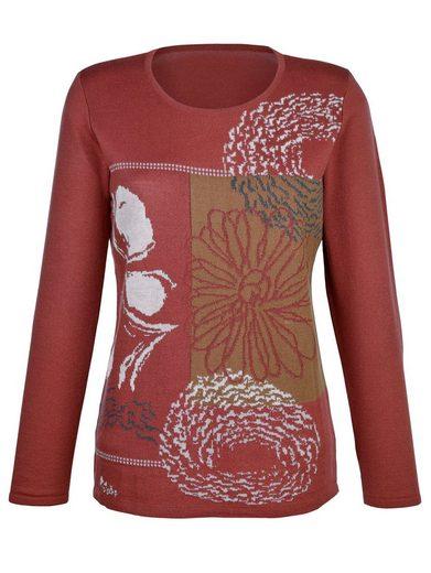 Dress In Pullover mit Blumenmuster