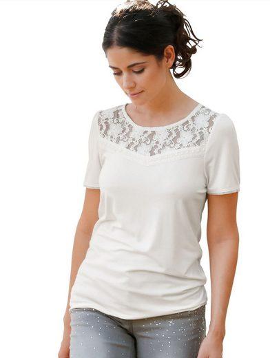 Amy Vermont Shirt mit Spitzeneinsatz