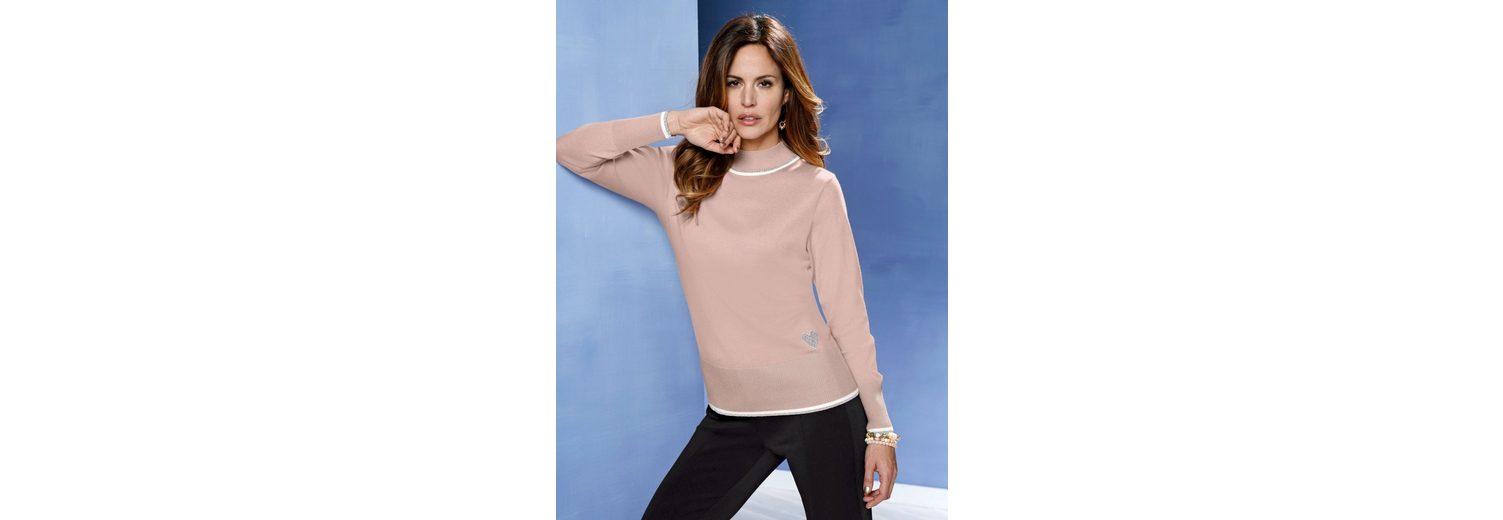 Verkauf Nicekicks Rabatt Bester Verkauf Mona Pullover mit edlen Glanzgarn-Abschlüssen Günstig Kaufen Footlocker Original-Verkauf Online oPdag