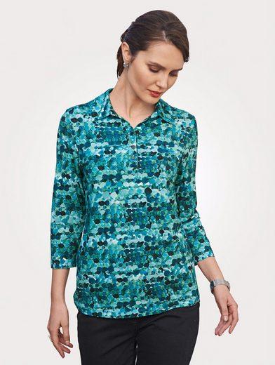 Mona Poloshirt mit grafischem Dessin
