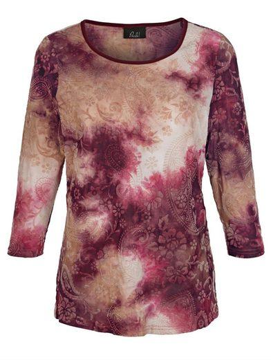 Paola Shirt mit Flockprint