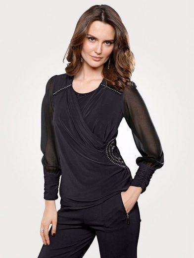 Mona 2in1-Shirt mit Schmucksteinen