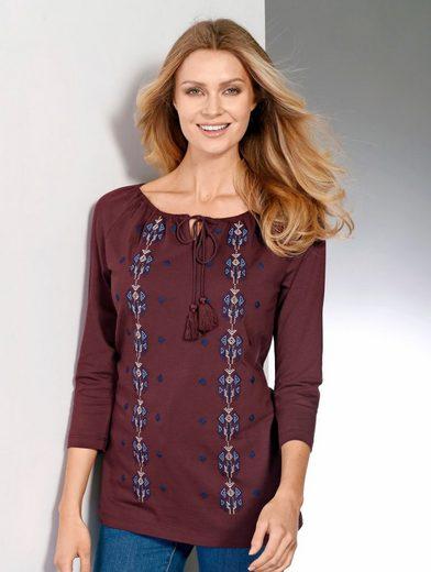 Paola Shirt mit schöner Stickerei