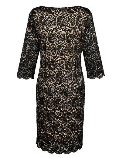 Mona Kleid aus zweifarbiger Webspitze