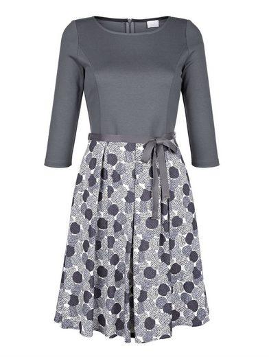 Alba Moda Druckkleid in schönem Punkte-Dessin