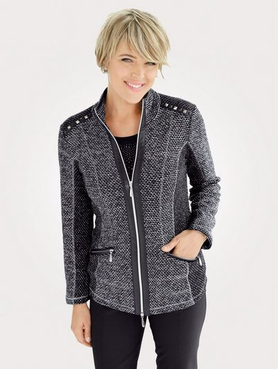 Mona Shirtjacke in Materialmix