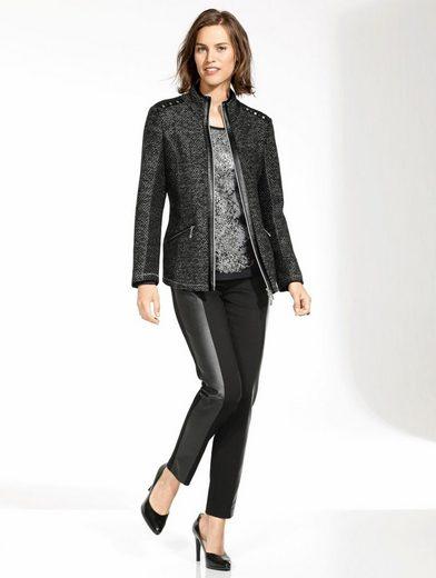 Mona Shirtjacke in Materialmix